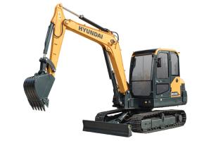 现代HX55小型履带挖掘机图片集