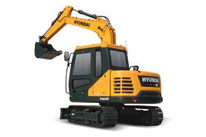 现代R75B VS小型履带挖掘机