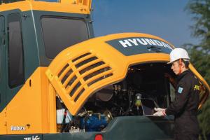 现代R75BVS小型履带挖掘机图片集