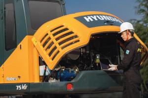 现代R75VS履带挖掘机图片集