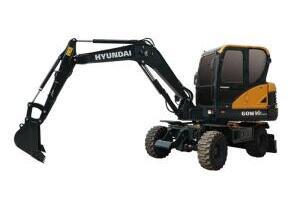 现代R60WVS PRO轮式挖掘机图片集