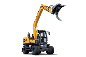 新源C85W加长臂轮式挖掘机图片集