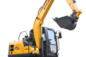 新源B75S轮式挖掘机图片集