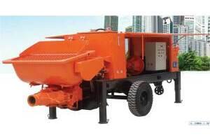 山推HBT60混凝土拖泵圖片集