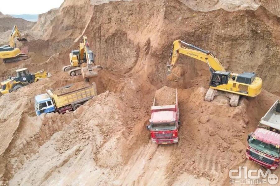 柳工成套设备征战广西大矿山