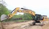 卡特彼勒349E挖掘机建立过筛砂