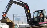 洋马小型挖掘机视频