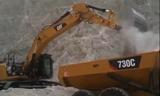 新卡特336E LN和卡特730C配合施工