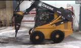 约翰迪尔318E滑移装载机 多种工作附件
