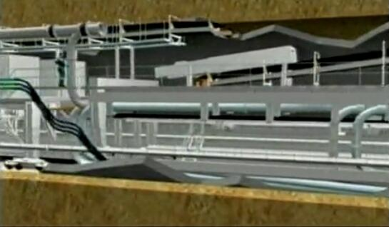 大型盾构机施工三维模拟动画演示