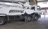 利勃海尔混凝土泵车支撑系统