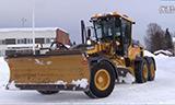 沃尔沃G960B平地机除雪视频