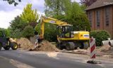 小松PW160轮式挖掘机工作视频