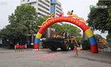 中国最大轮式装载机CLG8128H出口发运 吹响柳工H系列国际市场的号角