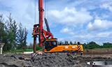 三一SR280旋挖钻机工作