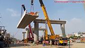 利渤海尔全地面起重机吊装桥梁