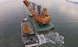 日本巨型疏浚船工作