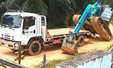 这一招学会,挖掘机还有什么板车上不了!