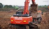 日立ZX350LC-6挖掘机施工