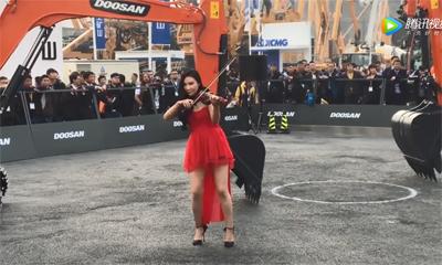 bauma CHINA 2018 彩虹妹妹逛斗山
