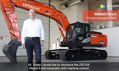 【D1CM视界】日立建机ICT混合动力挖掘机刷坡表演