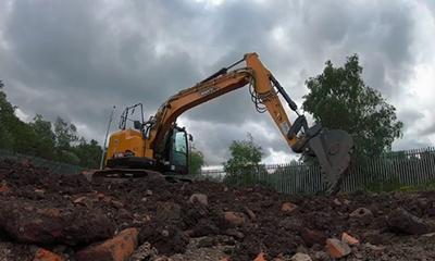 三一SY155U无尾挖掘机在英国