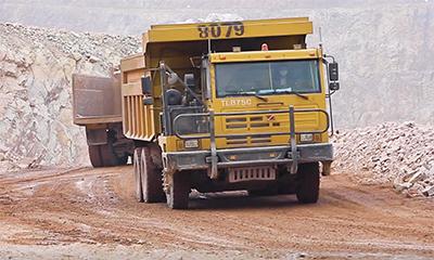 同力重工非公路宽体自卸车驰骋紫金矿业矿区