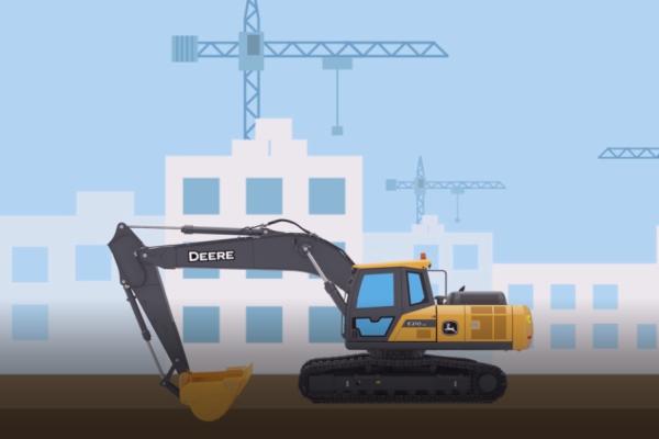 三分钟 让你了解全新约翰迪尔E210LC挖掘机详细工作参数